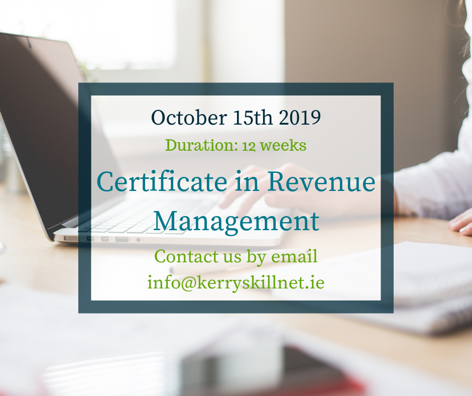 New Certificate in Revenue Management course – October 2019
